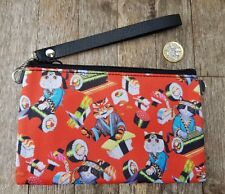 Red Sushi Cat Purse - Japanese Kitten Kawaii Black Clutch Bag