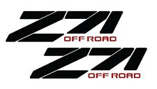 2X Z71 CHEVY TRUCK 4x4 OFF ROAD SILVERADO 1500 Sticker Vinyl Decal BLACK 1990's
