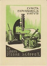 EX-LIBRIS PIERRE SUIFFET gravé sur bois en 1953 par CHARLES FAVET (1899-1982).