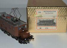 HO Brass 2-Rail DC Swiss BLS Ce 4/6 Electric Loc #308 Metropolitan 1980 XLNT
