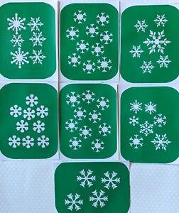 7 x Snowflake-1  Body Art And Glass Etching Stencils Glitter Stencil Art