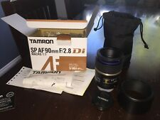 TAMRON SP AF 90MM F2.8 Di MACRO 1:1 FOR NIKON MOUNT MINT - Barely Used