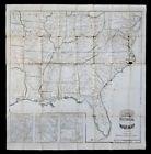 1862 ORIGINAL Antique ASHER Historical Battles CIVIL WAR MAP / Union Confederate