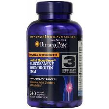 Puritans Pride Double Strength Glucosamine, Chondroitin & Msm Joint Soother X240
