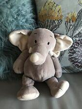 "Tesco Cuddle me Friends Plush Elephant Comforter Soft Hug Toy brown 13"" beanie"