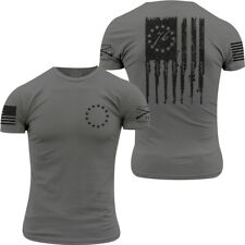 Grunt Style Betsy Rifle Flag T-Shirt - Heavy Metal