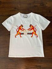 Women M Men S Shirt T-Shirt Logogucci TIGER White