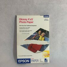 "New Box of 50 Sheets Epson Glossy 4"" x 6"" Photo Paper for Ink Jet Printers"