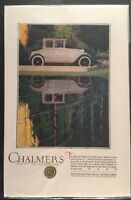 1920 CHALMERS AUTOMOBILE Original Vintage Full Page Color Print Ad Advertisment