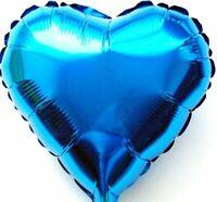 10 Pezzo Elio Palloncini Cuore Blu Valentinstag Regalo di Nozze Decorazione Neu