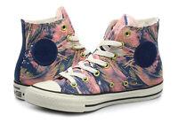 Women's Converse All Star Hi Print Sneaker Navy Blue Pink Gold 559863C Sz 6 NIB
