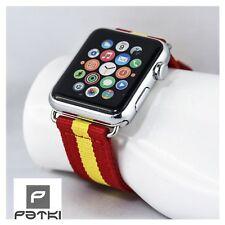 "Nylon pulsera ""Spain"" para Apple Watch (38mm) serie 1/2/3... WM 2018"