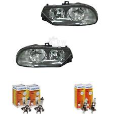 Headlight Set Alfa Romeo 156 Year 1997-08.2003 Clear Glass Black H7 +H1 1367262