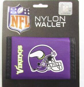 Minnesota Vikings NFL Nylon Tri-Fold Wallet