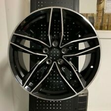 "19"" BLACK RS6 STYLE WHEELS RIMS FITS VW VOLKSWAGEN EOS CC R32 5X112 BRAND NEW"