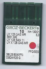 Aiguille  système UY 128 GAS MR taille 130/21 en paquet de 10