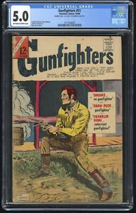 Gunfighters #51 CGC 5.0 (Charlton 1966) Silver Age Double Cover; 1st Issue