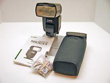 Canon 580Ex Ii Speedlite Dedicated Flash Unit.Case.Book.Fresh Batteries.Minty