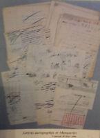 1990 Catálogo De Venta Demuestra Drouot Letras Autógrafos Manuscritos