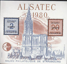 TIMBRE BLOC  CNEP N°  1   ALSATEC  1980