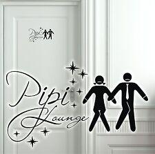 Wandtattoo Türaufkleber Pipi Lounge Bad WC Flur lustige Klo Toilette Sprüche A21