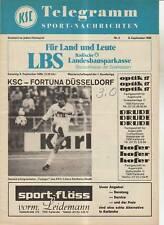 BL 80/81  Karlsruher SC - Fortuna Düsseldorf