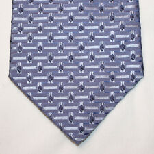 NEW Croft & Barrow Silk Neck Tie Light Blue w Solid Lines & Blue Pattern 1252