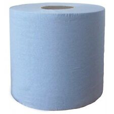 4 x BLUE Roll (Jumbo Wiper) 2ply EMBOSSED 350mx 28cm GARAGE CLEANING (2318x2)