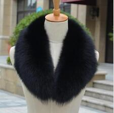 Women&Men Real Genuine Fox Fur Collar Scarf/Shawl/Wrap Neck Warmer 80cm