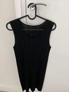 Pleats Please Issey Miyake Tunic / short dress size 4 Black New