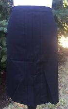 NWT 6 J CREW A-line SKIRT Stretch Cotton Black SIZE 6