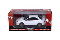Showcast Subaru Impreza WRX STI Die-cast Car 1:24 Scale Motormax 7.5 inch White