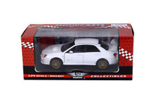 Showcast Subaru Impreza WRX STI Die-cast Car 1:24 Scale Motormax 7.5 inch White