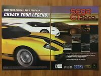 SEGA GT 2002 Vintage Video Game Poster Ad Print Art Official Promo Racing Rare