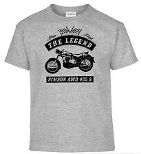 T-Shirt, Simson AWO 425 S, Motorrad, Oldtimer, Youngtimer