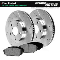 Front Drill Slotted Brake Rotors & Metallic Pads For Sebring Avenger Eclipse