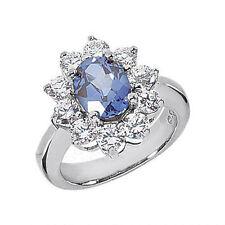 3 carat oval sapphire u0026 15 ct round diamond engagement wedding 14k gold ring