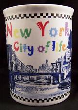New York City of Life Mug Cup 20 Oz Taxi Times Square Broadway Radio Music Hall