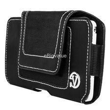 VanGoddy Black Nylon Holster Belt Clip Pouch Case for iPhone 6 Plus / LG G Stylo