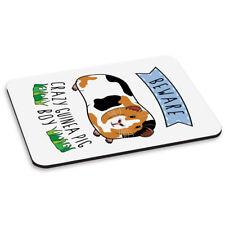Beware Crazy Guinea Pig Boy PC Computer Mouse Mat Pad - Funny Animal Pet