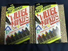 2 Packs Crayola Art With Edge 12 ct Wedge Markers Brand New 24 markers Total !