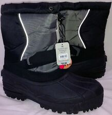 Mens Snow Boots Size 12 Black/Gray New With Tags