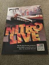 Vintage 1993 NHRA DRAG RACING TNN Poster Print Ad 1990s RARE