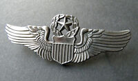 Command Pilot Wings USAF Air Force Cap Hat Jacket Pin 2.75 inches