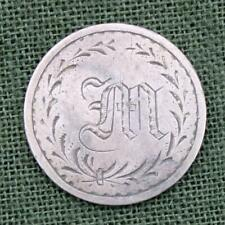 """Love Token Engraved with the Initial """"M"""" on 1859-1916 Seated Dime * Silver"""