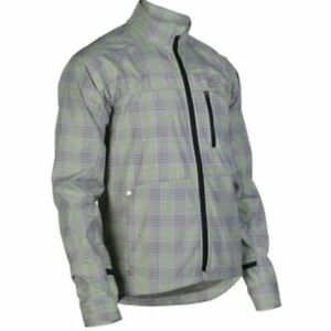 New Cannondale Cycling Urban Softshell Jacket Men's Medium Plaid Green