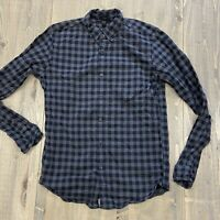 J. Crew men's Small Slim Oxford button Shirt plaid Gray Navy