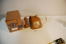 C132 Vintage Retro Phone FEUER NOTRUF germany LUXE EN CUIR leather jaune 2