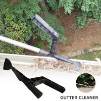 Gutter Cleaning Kit Downspout Screen Debris Scoop Home Garden Roof Tool Cleaner