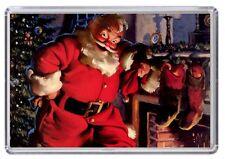 Father Christmas, Santa Claus retro Fridge Magnet 01